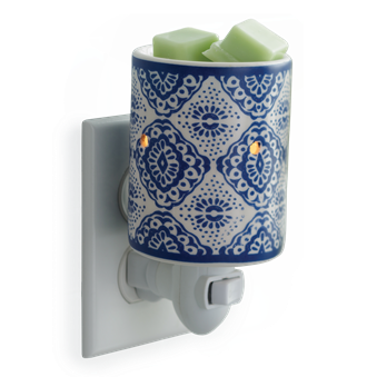 Plug-In Wax Melter - Indigo Porcelain