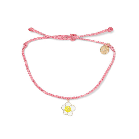 Painted Plumeria Gold Bracelet