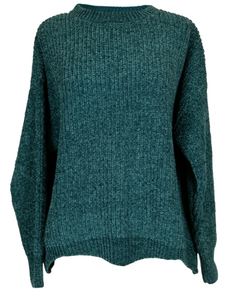 Teal Wave Sweater