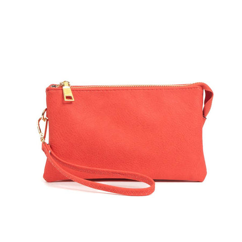 3 Compartment Crossbody/Wristlet (Water Melon Color)