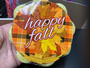 Happy Fall Shower Sponge