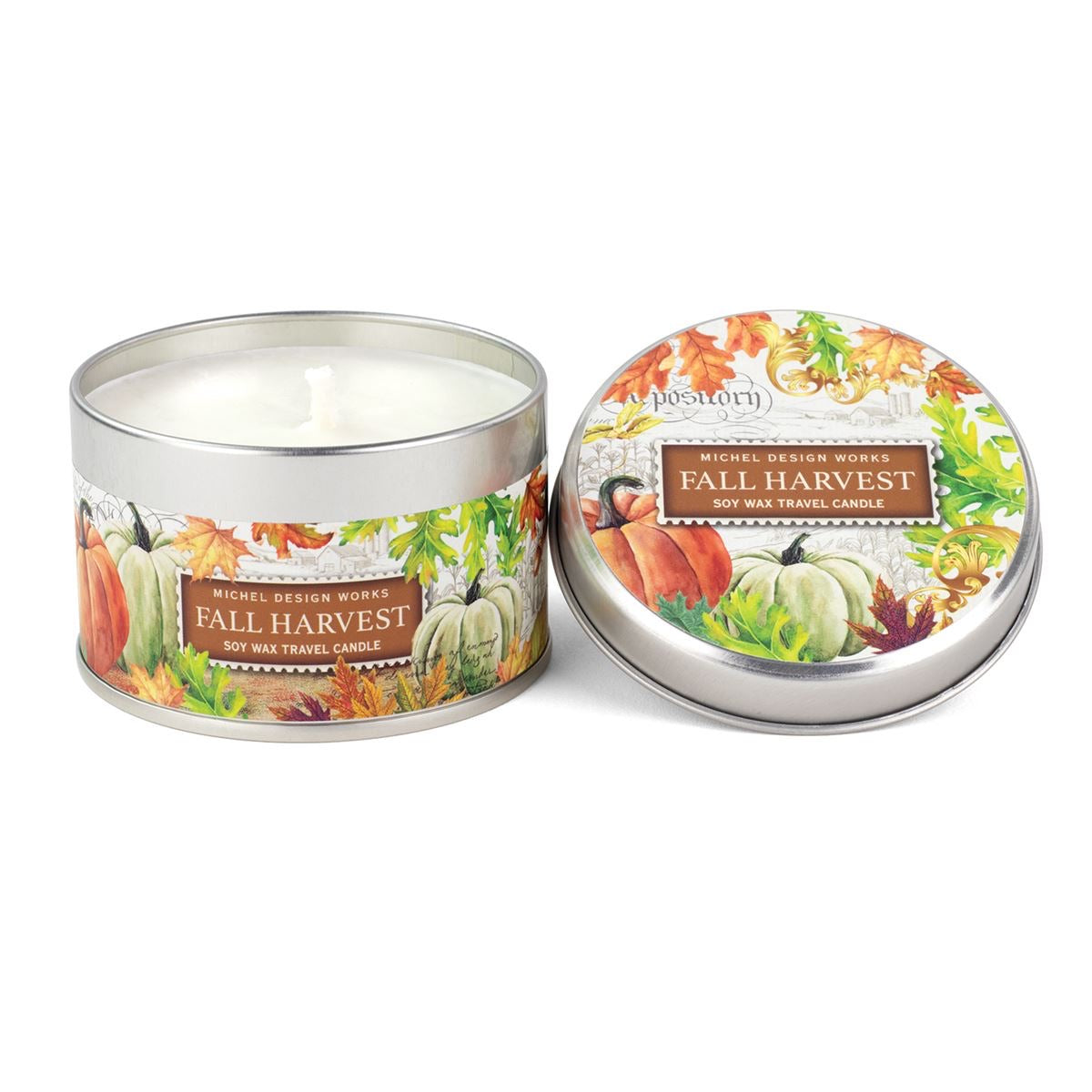 Fall Harvest Tin Travel Candle