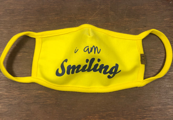 I Am Smiling Face Mask