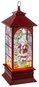 LED Light Up Shimmer Santa w/Tree Lantern