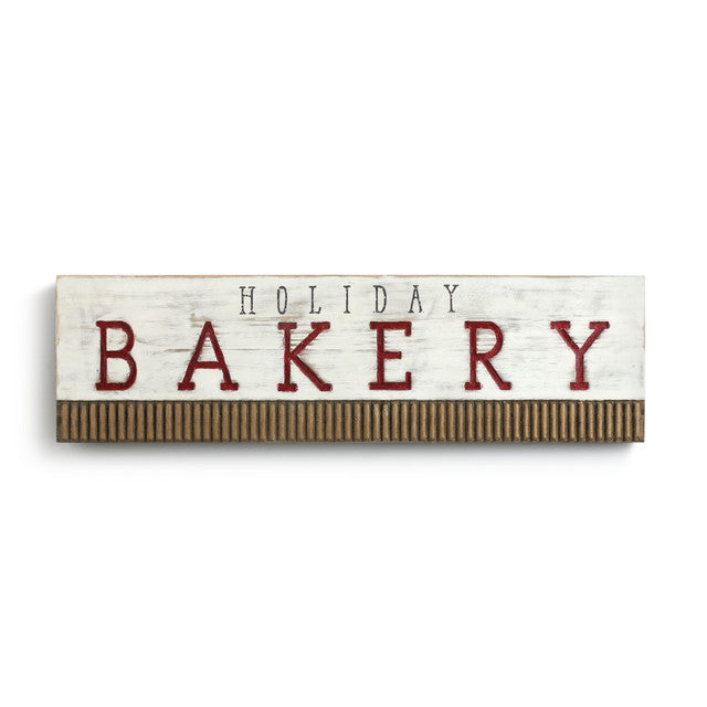 Wood Holiday Bakery Sign