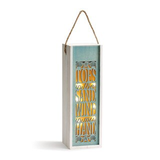 """Toes in the Sand"" Wine Caddy Lantern"