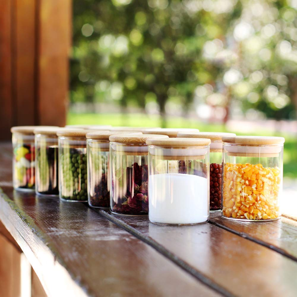 Wooden Borosilicate Lid Glass Jar | 220 ml