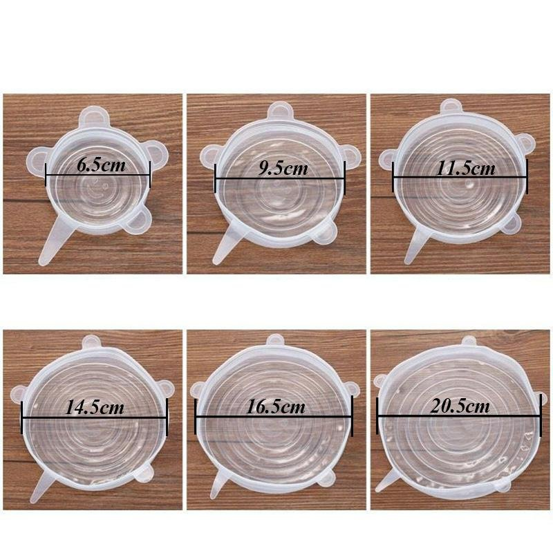 Assistant Silicone Lids | Set of 6 - Kitchen Assistant India