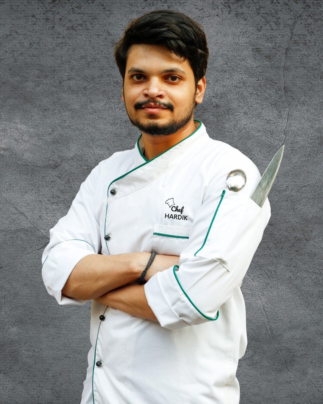 Chef Coat | Embroidered Name | Men - Kitchen Assistant India
