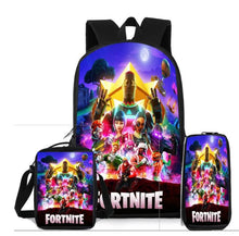 Load image into Gallery viewer, 3 piece school Fornite Bags