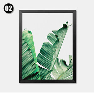 Modern Green Leaf Tropical Monstera Art Canvas Painting Posters