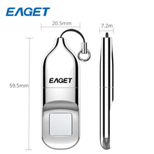 Load image into Gallery viewer, EAGET USB Flash Drive 32GB  64GB   Pendrive USB 2.0 Recognition Fingerprint Encryption Flash Disk Memory