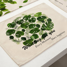 Load image into Gallery viewer, Cotton Linen Green Leaf Printed Table