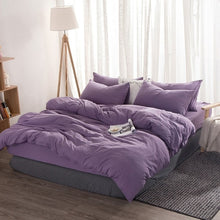 Load image into Gallery viewer, Home Textile Simple Solid Color Bedding Sets 3/4pcs