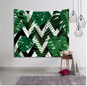 3D Green plant tapestry