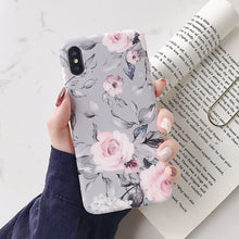 Load image into Gallery viewer, LOVECOM Vintage Flower Phone Case For iPhone 12 Mini 12 Pro Max 11 Pro Max X XR XS Max 7 8 6S Plus Soft IMD Floral Back Cover