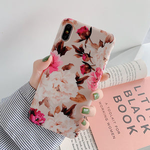 LOVECOM Vintage Flower Phone Case For iPhone 12 Mini 12 Pro Max 11 Pro Max X XR XS Max 7 8 6S Plus Soft IMD Floral Back Cover