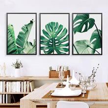 Load image into Gallery viewer, Modern Green Leaf Tropical Monstera Art Canvas Painting Posters