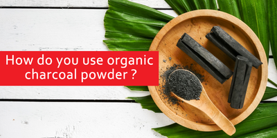 How do you use organic charcoal powder?