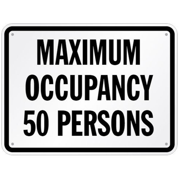 """Maximum Occupancy"" Pool Sign"