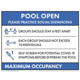 Reopening Pool Sign - Florida