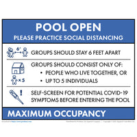 Reopening Pool Sign - Texas