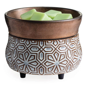 2-in-1 Fragrance Warmer - White/Bronze