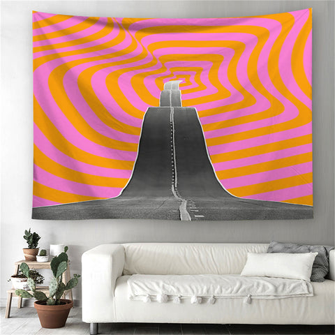 Trippy Roads Tapestry