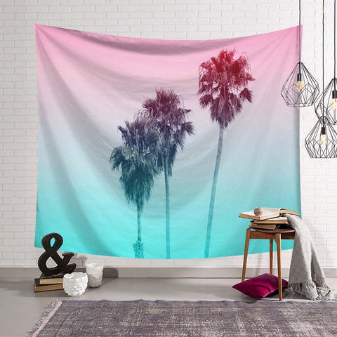 Filtered Palm Trees Tapestry