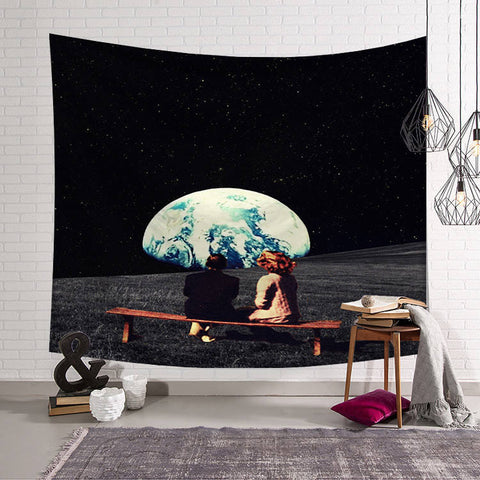 Conversation on the Moon Tapestry