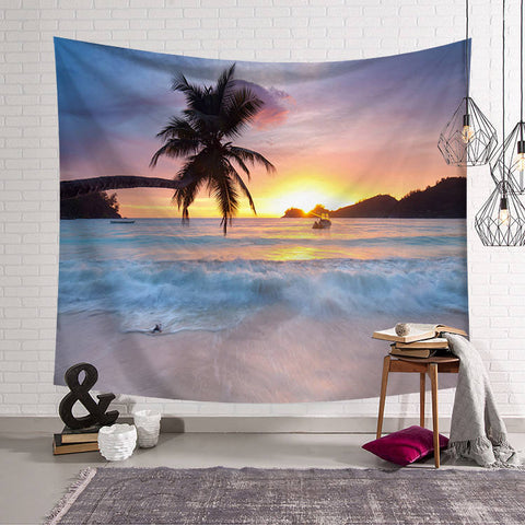 Beachside Palm Tree Tapestry