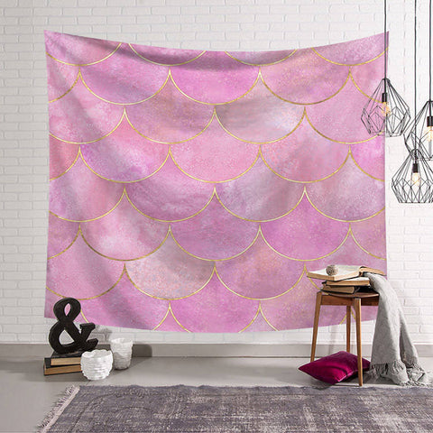 Pink Scales Tapestry