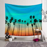 Sunset Palm Trees Tapestry