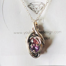 Load image into Gallery viewer, Mini double stone pendant