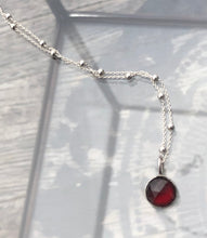 Load image into Gallery viewer, Mozambique Garnet Solitaire necklace