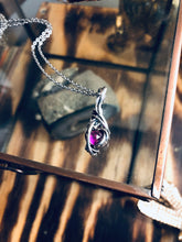 Load image into Gallery viewer, Pink Sapphire Mini Wire Pendant