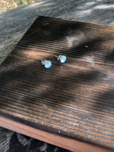 Load image into Gallery viewer, Teal Quartz Rose Cut Studs