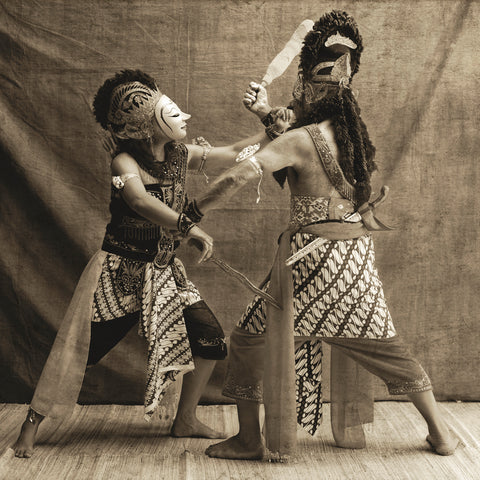 The Battle Between Panji (The Prince) and Kelana (The Kidnapper)