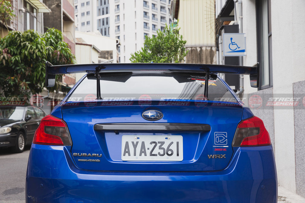 S207 Style Rear GT-Wing Spoiler For 2014-2020 Subaru WRX/STI V1 (GLOSS BLACK)