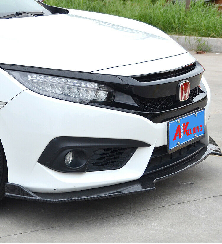 Street Design Front Lip For 2016-2020 Honda Civic 10TH Sedan/Hatch (CARBON LOOK)