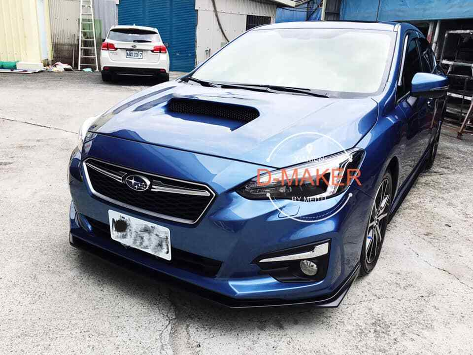 STI Style Front Bumper Lip For 2018-2020 Subaru Impreza G5 Hatch (UNPAINTED)