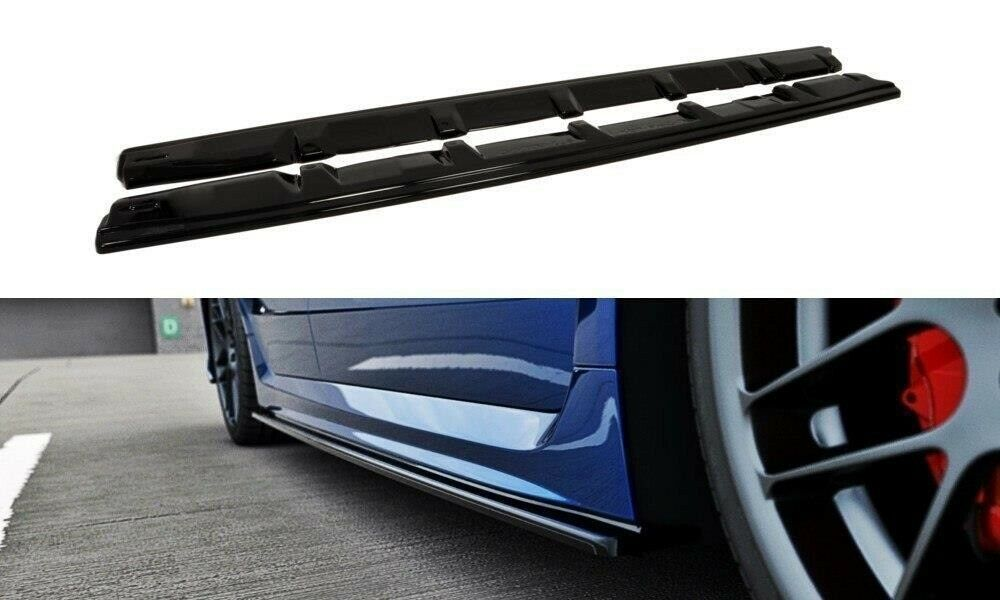 Maxton Design ABS Side Skirt Extensions For MY15-19 Subaru WRX/STI (GLOSS BLACK)