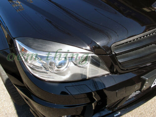 Eyelid/Headlight Covers For MY08-11 Mercedes-Benz W204 C-Class Sedan (UNPAINTED)