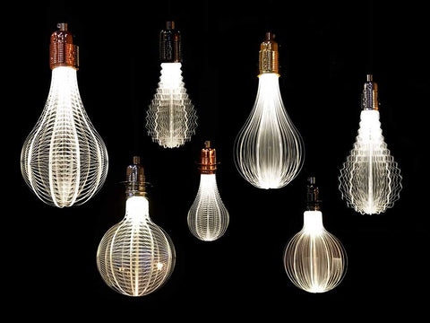 unique led light bulb, modern lighting, hanging lamp