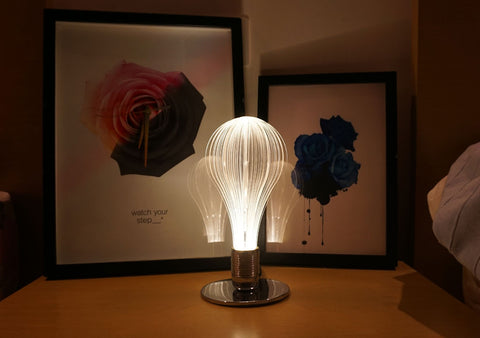 URI collection, Laser-Etched Led Light bulb for bedroom interior design