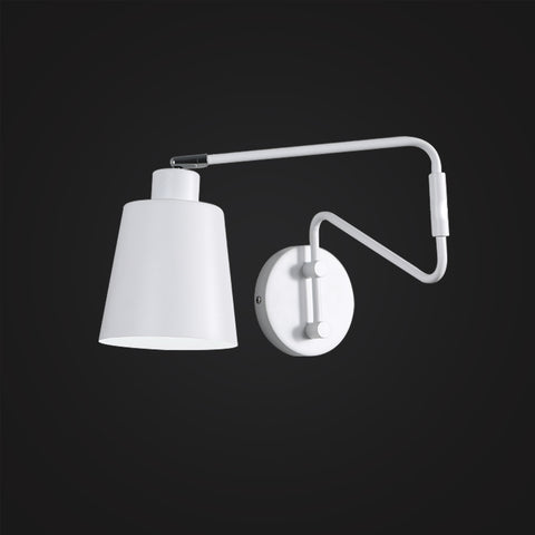white color Scandinavian arm swing wall lamp home decor