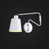 white color Scandinavian arm swing wall sconces bedroom interior