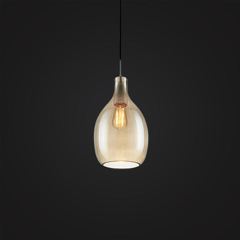light brown modern glass hanging lamp