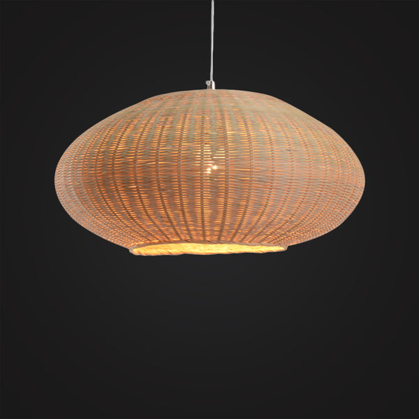 Handcrafted Sphere Bamboo Hanging Lamp, Modern Design