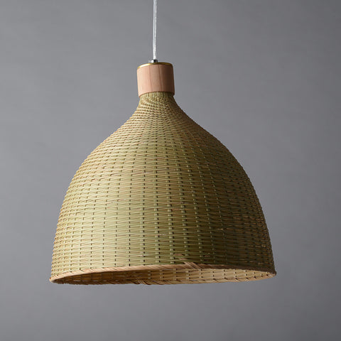 bamboo wood pendant light